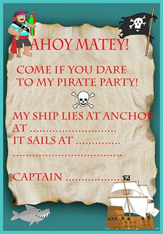 A late christmas card greetings not birthday pinterest pirate map invitation example m4hsunfo