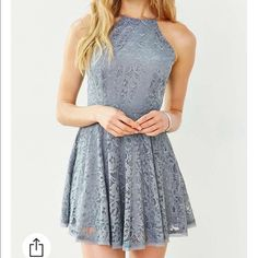 """Kimchi Blue Lorraine High-Neck Fit + Flare Dress super cute and comfy skater dress! only worn once- bust 34"""" length 32"""" Urban Outfitters Dresses"""