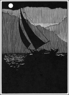 Barry Moser. Illustration for Frankenstein. Wood engraving