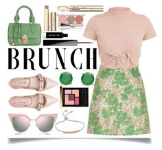 Mother's Day Brunch Goals by ittie-kittie on Polyvore featuring polyvore fashion style River Island Miu Miu Sarah Chofakian Monica Vinader Loren Stewart Fendi Yves Saint Laurent Givenchy Chantecaille Stila Smith & Cult clothing