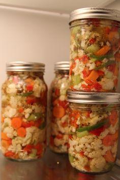 Homemade giardiniera...looks so yummy!