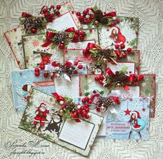 Mixed media paper crafting merry christmas card - Mixed Media Paper Crafting Merry Christmas Card 16