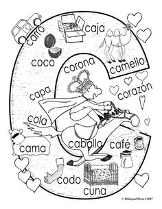"""Hard """"C"""" coloring page"""