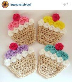 Cupcakes de crochê
