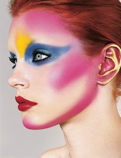 i-D The New Dawn Issue, No. 247, September 2004. Photography Richard Burbridge. Fashion Director Edward Enninful. Make-up Pat McGrath. Model Jessica Stam.