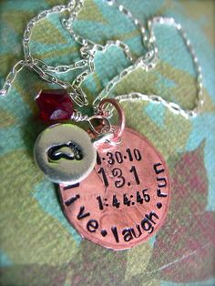 Cute gift idea for runners. For xc, do PR date and time