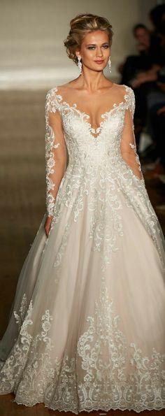 My Dream Wedding Dress! New York Bridal Week - Allure Bridals Spring 2017 Stunning Wedding Dresses, Dream Wedding Dresses, Bridal Dresses, Beautiful Dresses, Wedding Gowns, Bridesmaid Dresses, Wedding Dressses, Wedding Ceremony, Party Dresses