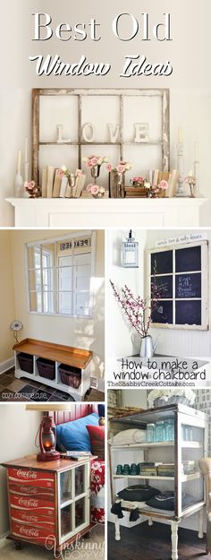 Old Window Frame Decor New 25 Old Window Ideas Transforming Those Frames From Odd to Old Window Crafts, Window Frame Decor, Old Window Projects, Wooden Window Frames, Old Window Ideas, Windows Decor, Diy Projects, Pallet Projects, Living Room Windows
