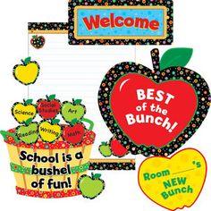 Poppin' Patterns® Apples Bulletin Board Set