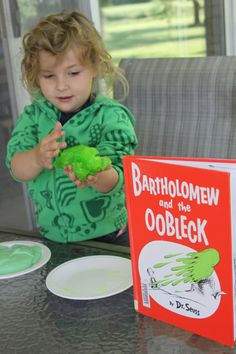 Dr. Suess' Bartholomew and the Oobleck storytime activity - make Oobleck!