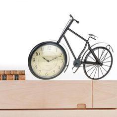 Reloj de sobremesa con forma de bicicleta