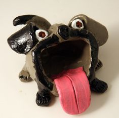 Bigmouth animals from pinch pots