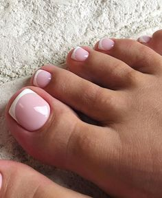 Frensh Nails, Feet Nails, Pedicure Nails, Swag Nails, Feet Nail Design, Toe Nail Designs, Acrylic Nail Designs, White Tip Nails, Pink Glitter Nails