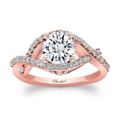 Rose Gold Engagement Ring 8080LP