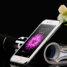 Luxury Rhinestone Frame Case For iphone 7 6 5 SE Ultra Thin Clear Soft TPU Crystal Diamond Cover For iPhone 6 7 Plus Iphone 5s, Iphone 7 Plus, Iphone 7 Cases, Apple Iphone 6, Crystal Rhinestone, Crystal Diamond, 6s Plus, Bling, Crystals
