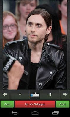 An American actor and director Jared Leto HD Wallpapers. There are more than 500 Jared Leto Wallpapers in this app. The huge pictures collection of her for the sharapova fans. You can save picture in SD card, you can set them as wallpapers or backgrounds or share them via social networks, e-mail or MMS.<p>App Feature:<br>=> Set it as a wallpaper<br>=> Save in SD card<br>=> Share with others.<br>=> Easy Gallery view.<br>=>Can zoom in or zoom out.<br>=> High Speed<p>About Jared Leto…