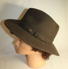 8b12fe5aeac Mens Fedora Hat by Bailey of Hollywood Brown Size Large Soft Felt Lanolux  1970s