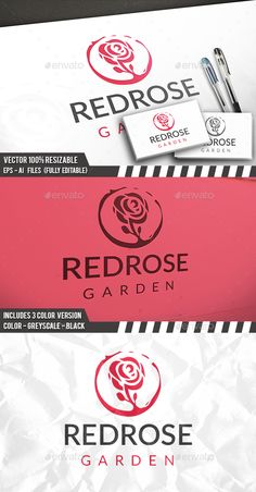 Rose Logo — Photoshop PSD #luxurious jewelry #stylish girl • Download ➝ https://graphicriver.net/item/rose-logo/19617390?ref=pxcr