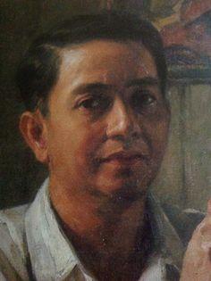 "Detail, ""Self-Portrait"" of Amorsolo Filipino Art, Philippine Art, Filipiniana, Sunflower Wallpaper, Andrew Wyeth, Edgar Degas, Great Words, Pinoy, Art Paintings"