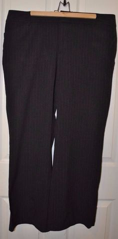 Old Navy Womens Dark Gray Pinstripe Bootcut Pants Size 18 #OldNavy #DressPants