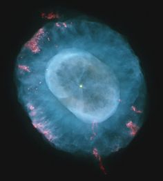 "NGC 7662 ""Blue Snowball"", a planetary nebula in the nearby galaxy, Andromeda, about 5,600 light years distant."