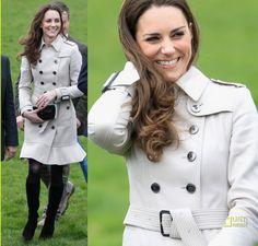 Duchess of Cambridge's Burberry London Ruffled Wool Trench Coat