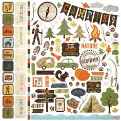 Simple Stories - Take a Hike Collection - 12 x 12 Cardstock Stickers - Fundamentals at Scrapbook.com $2.99