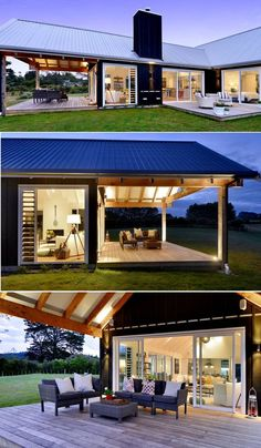 House Plans in Modern Architecture. Modern Prefab Homes, Pole Barn Homes, Shed Homes, My Dream Home, Future House, Modern Architecture, Modern Farmhouse, Building A House, House Plans
