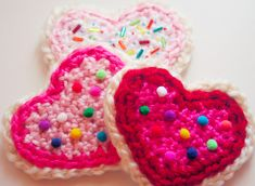 Sweetheart Sugar Cookies! My crochet pattern at Michaels.com