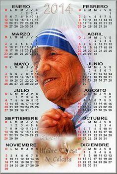 GIFS DE CALENDARIOS: Calendario de la Madre Teresa de Calcuta 2014