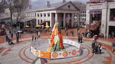 Choi Jeong Hwa's #mfaMEGA Fruit Tree is now on view at Marketplace Center near @faneuilhall. Don't forget to snap a photo—show it at the MFA to get free admission. #inflategate #publicart #timelapse