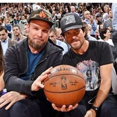 Jeff and Eddie in Toronto last spring.  #eddievedder #jeffament #pearljam #raptors #toronto #canada
