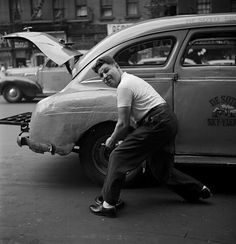 Changing The Tire, 1946