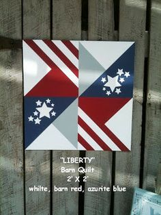 Items similar to Barn Quilt, Liberty Pattern on Etsy Barn Quilt Designs, Barn Quilt Patterns, Quilting Designs, Block Patterns, Quilting Patterns, Blue Quilts, Star Quilts, Quilt Blocks, Scrappy Quilts