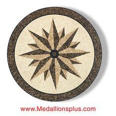 Star Light  36 Mosaic Marble Floor Medallion Inlay