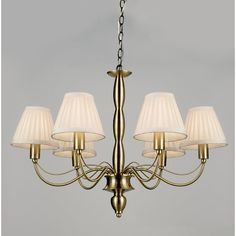 Endon Lighting Charleston Six Light Chandelier in Antique Brass | Wayfair UK