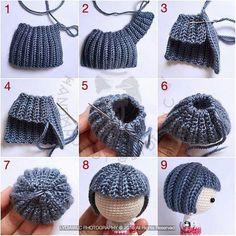 Mesmerizing Crochet an Amigurumi Rabbit Ideas. Lovely Crochet an Amigurumi Rabbit Ideas. Crochet Gifts, Free Crochet, Knit Crochet, Crochet Shrugs, Simple Crochet, Knitted Dolls, Crochet Dolls, Crochet Doll Pattern, Crochet Patterns