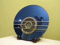 Vintage 1936 Old Walter Teague Sparton Blue Mirror Depression Era Art Deco Radio | eBay