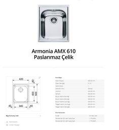 Armonia AMX 610 Paslanmaz Çelik franke  franke Armonia AMX 610 Paslanmaz Çelik