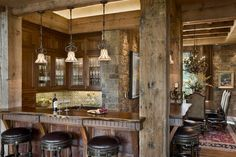 """60 Great Bar Stool Ideas – How To Pick The Perfect Design: """"The design and the material choice for the bar stools are perfect for a wine cellar"""""""