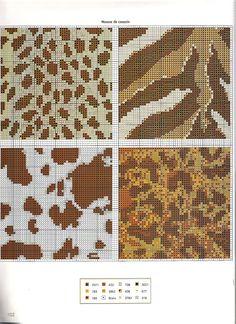 Animal Print Free Cross Stitch Pattern Chart 2 of 2 Cross Stitch Borders, Cross Stitch Animals, Cross Stitch Charts, Cross Stitch Designs, Cross Stitching, Cross Stitch Embroidery, Embroidery Patterns, Cross Stitch Patterns, Knitting Charts