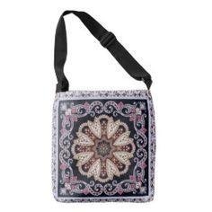 Purple elegant circular Ornament Design Tote Bag