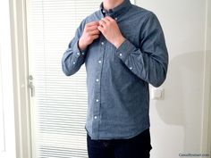 Lean Garments Chambray shirt Smart Design, App Design, Denim Button Up, Button Up Shirts, Create Floor Plan, Chambray, How To Plan, Coat, Jackets