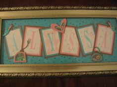 Name frames by Jackie S - Cards and Paper Crafts at Splitcoaststampers