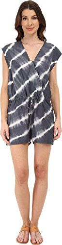 Velvet by Graham  Spencer Womens Haiti Voile TieDye Romper Grey Jumpsuit SM ** Check this awesome product by going to the link at the image.(This is an Amazon affiliate link and I receive a commission for the sales)