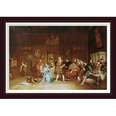 Global Gallery Henry VIII and Anne Boleyn Observed By Queen Katherine by Marcus Stone Framed Graphic Art Size:
