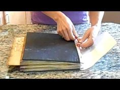 Pagan Scrapbook Supply - How To Make a Book of Shadows - YouTube