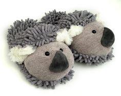 Fuzzy Koala Slippers: Warm and cute koala slippers! Makes a great gift.