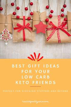 Looking for a holiday gift for someone in your life that follows a Keto, low carb or gluten free lifestyle? This keto friendly holiday gift guide will give you all the ideas you need. You sure don't want to get someone following a Keto lifestyle a box of regular chocolates or a gift certificate to a restaurant they can't use. It really is the thought that counts, show them you support their healthy, low carb lifestyle! #keto #glutenfree #giftguide #healthylifestyle Chocolate Covered Almonds, Dark Chocolate Bar, Holiday Gift Guide, Holiday Gifts, Gluten Free List, Workout To Lose Weight Fast, Sugar Free Diet, Yogurt Maker, Baked Chips