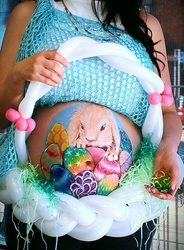 Easter egg belly bump